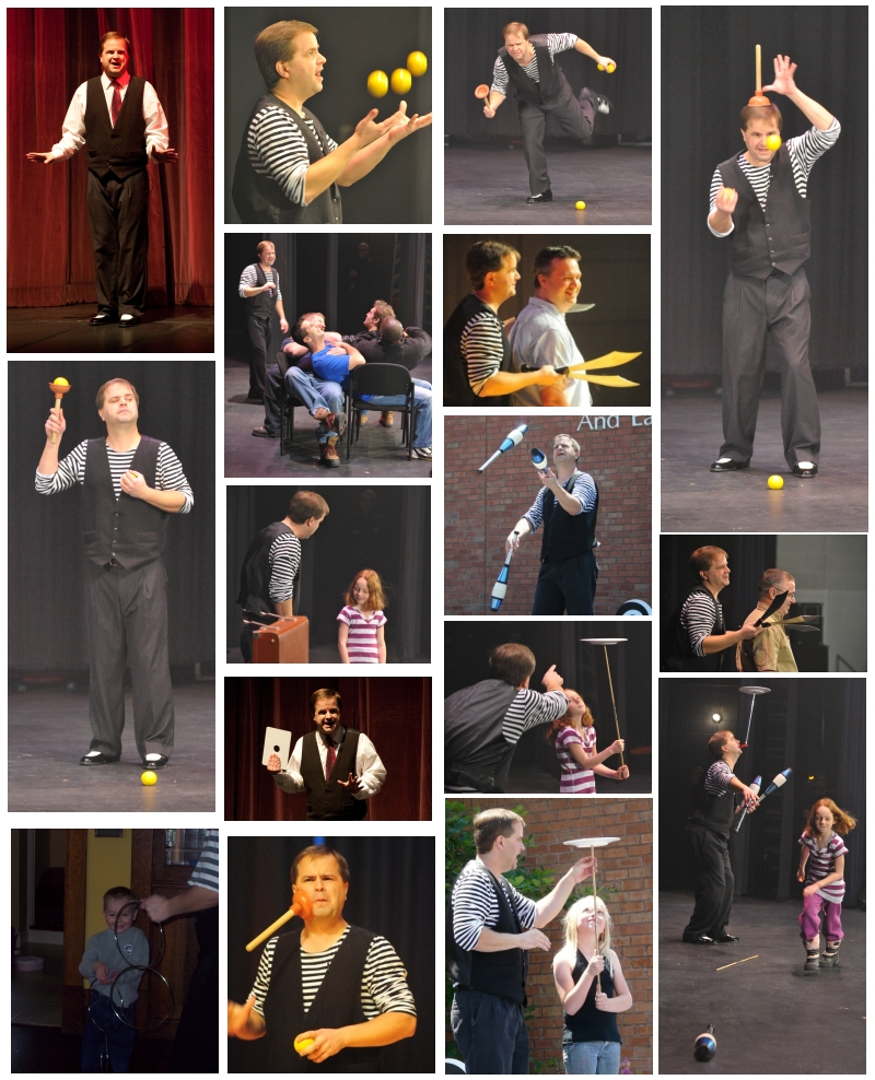 Photos of juggler / magician Vaudeville Steve (based in London, Ontario)